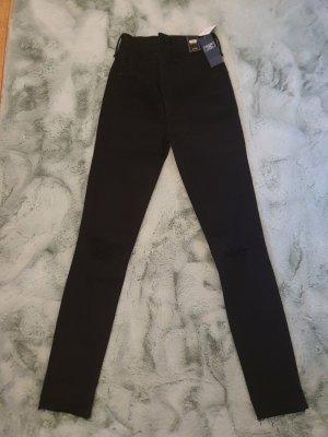 Abercrombie & Fitch Spodnie z wysokim stanem czarny