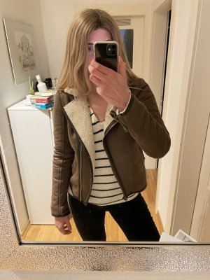 Abercrombie & Fitch Biker Jacket bronze-colored