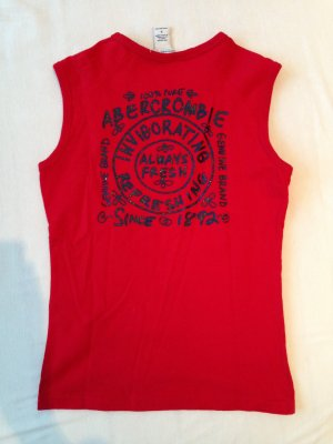 Abercrombie & Fitch T-shirt rood-donkerblauw