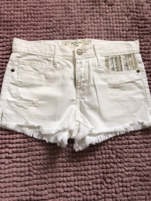 Abercrombie & Fitch Hot Pants white
