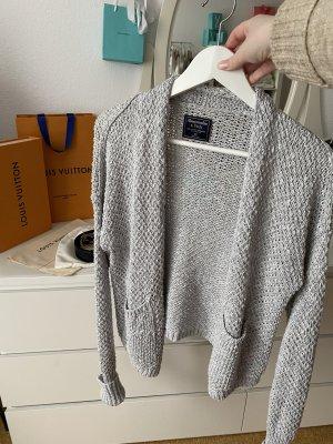 Abercrombie & Fitch Giacca in maglia grigio chiaro