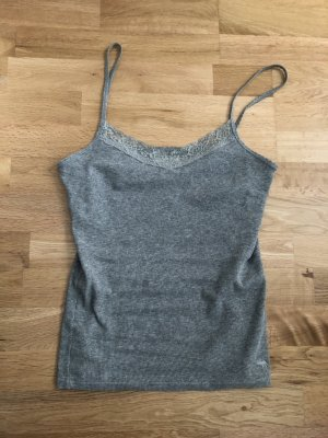Abercrombie & Fitch Top basic grigio