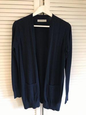 Abercrombie & Fitch Gebreide cardigan donkerblauw
