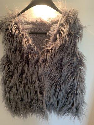 Fake Fur Vest silver-colored-grey