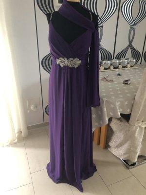 Abi/ Abend Kleid von Peek & Cloppenburg Lila / Strass 38/40
