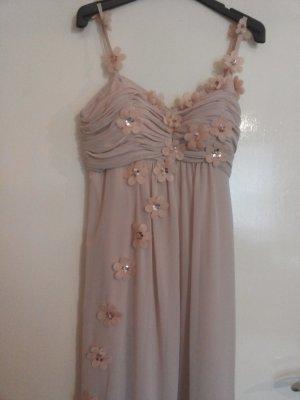 Apart Vestido de baile color rosa dorado tejido mezclado