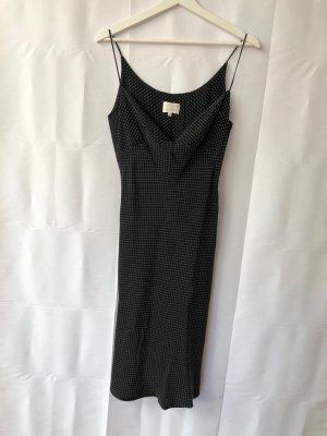Vestido a media pierna negro-blanco
