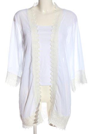 Abollria Marynarka koszulowa biały-w kolorze białej wełny Elegancki