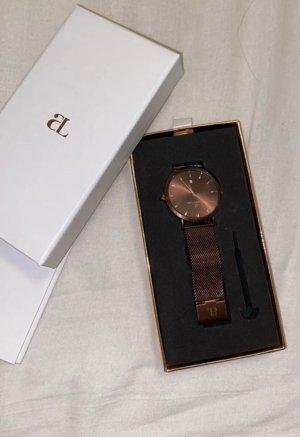 abbott lyon Montre avec bracelet métallique brun rouge