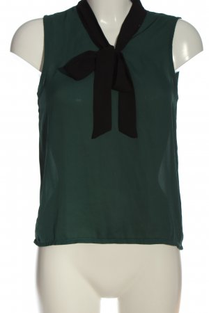 About You Mouwloze blouse groen-zwart casual uitstraling