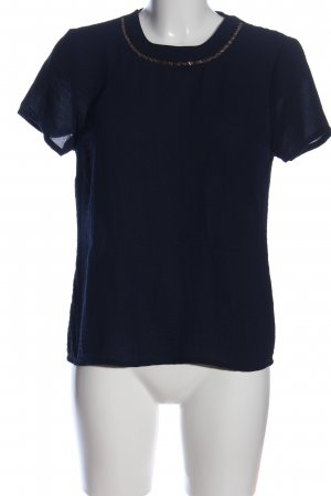 About You Blusa sin mangas azul-marrón look casual