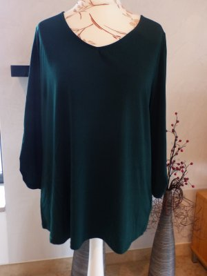 About You Oversized Blouse dark green mixture fibre