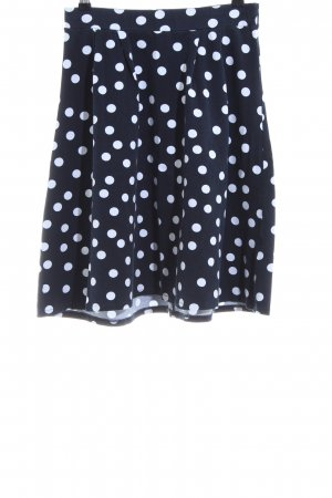 About You Flared Skirt black-white spot pattern casual look