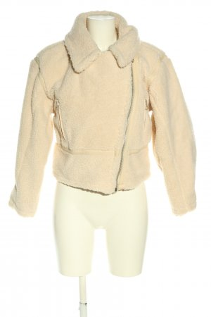 About You Fake Fur Jacket cream casual look