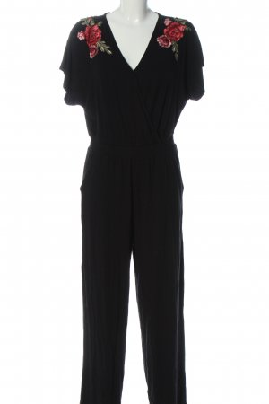 About You Langer Jumpsuit schwarz Blumenmuster Casual-Look