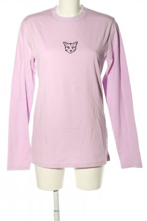 About You Longsleeve pink themed print casual look