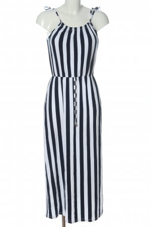 About You Maxi-jurk zwart-wit gestreept patroon casual uitstraling