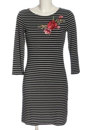 About You Mini-jurk zwart-wit gestreept patroon casual uitstraling