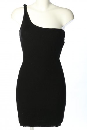 About You One-Shoulder-Kleid schwarz Casual-Look