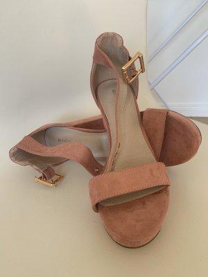 About You Zapatos de cuña rosa-rosa