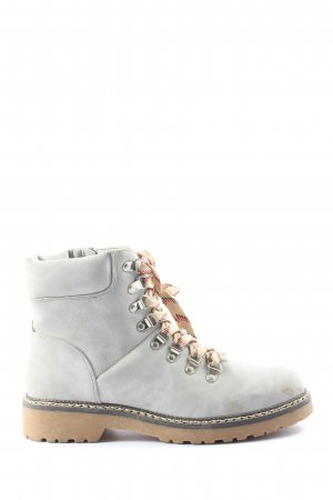 About You Lace-up Booties light grey casual look
