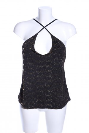 About You Top con bretelline nero-marrone puntinato stile casual