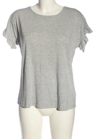 About You Camisa tejida gris claro moteado look casual