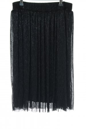 About You Circle Skirt black flecked wet-look