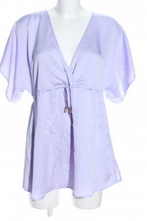 About You V-hals shirt lila casual uitstraling