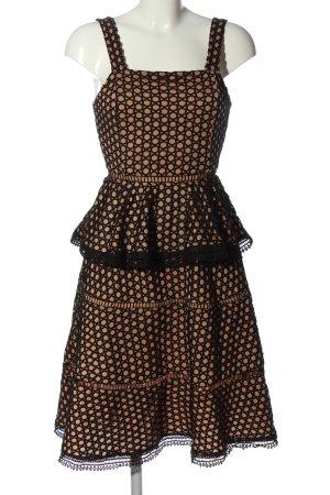 About You Volante jurk nude-zwart volledige print elegant