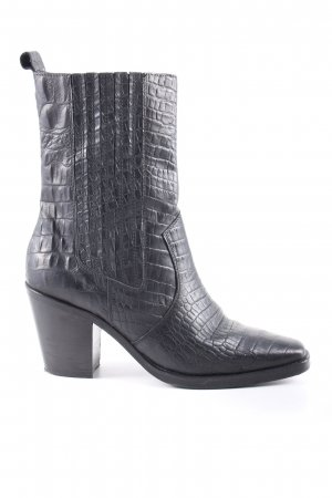 About You Western-Stiefeletten schwarz Allover-Druck Casual-Look