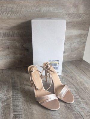 Aboutyou Sandaletten beige mit Glitzer