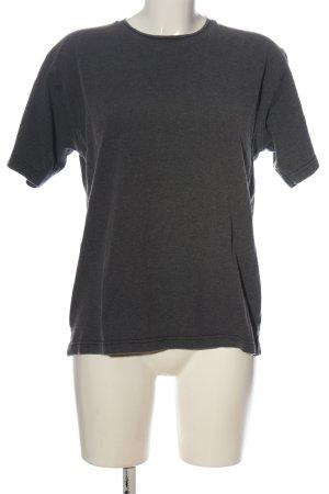 Abrams Camisa tejida gris claro moteado look casual