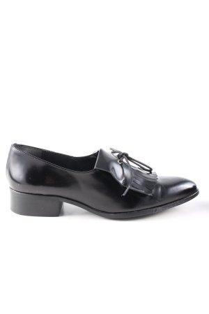 Abril flowers Zapatos estilo Richelieu negro estilo «business»
