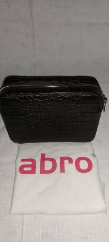 abro Crossbody bag silver-colored-taupe leather