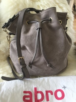 abro Pouch Bag grey brown leather