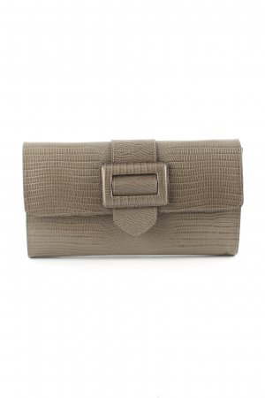 abro Clutch braun Animalmuster Business-Look