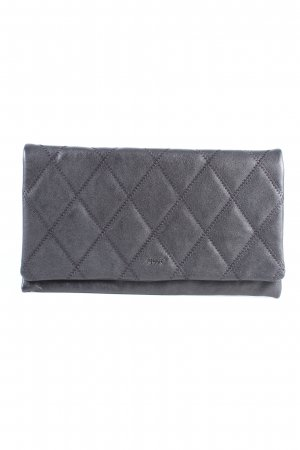 abro Clutch light grey quilting pattern casual look