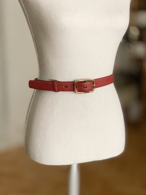 abro Leather Belt dusky pink-russet leather