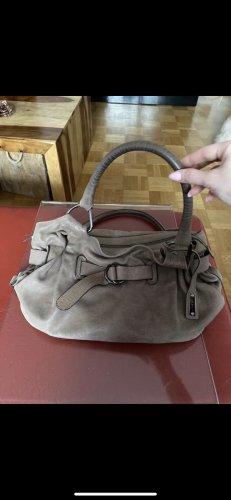 abro Handbag grey brown leather
