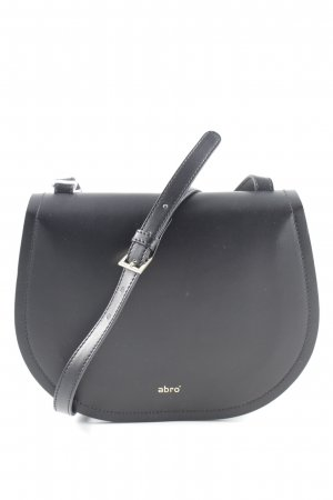 "abro Handtas ""Calf Carmen Crossbody Bag Black/Red"" zwart"