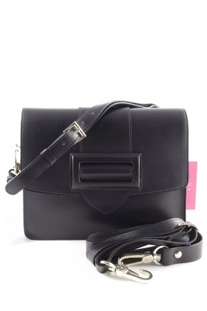 "abro Handtas ""Calf Carmen Shoulder Bag Black/Red"" zwart"