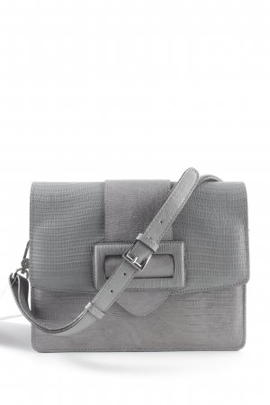"abro Handtas ""Laos Shoulder Bag Light Grey"" donkergrijs"