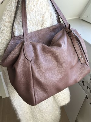 abro Carry Bag rose-gold-coloured leather