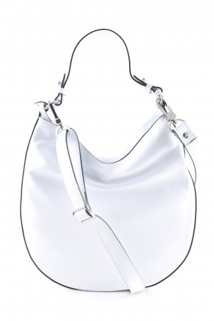 abro Bolsa Hobo blanco look casual