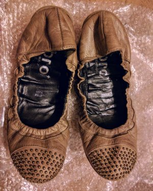 ABRO Leder Ballerina mit Nieten