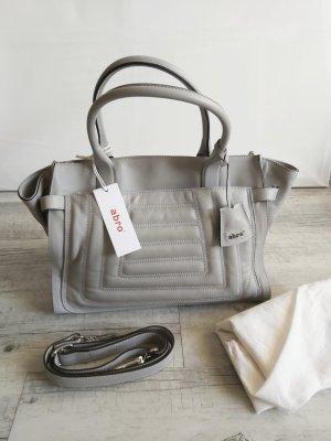 Abro Leder Handtasche Shoppingbag grau Neu m. Etikett