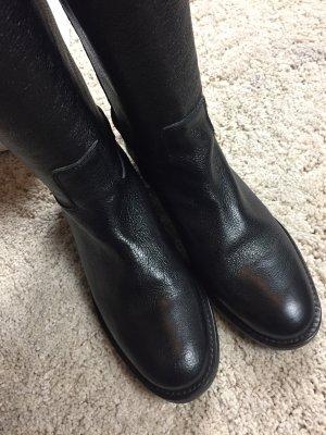 Abro Leder Stiefel schwarz 38 neu!!!