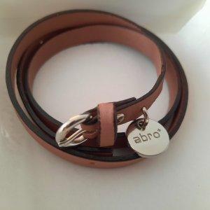 abro Leather Bracelet dusky pink leather