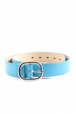 abro Leather Belt blue-natural white casual look